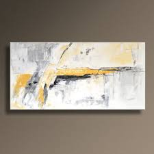 black grey and yellow wall art