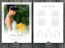 Wedding Photographer Pricing Guide Price Sheet List Template Free ...