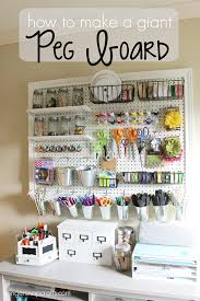 diy craft room ideas and craft room organization projects giant peg board cool ideas