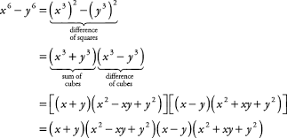 factor form definition sum or difference of cubes