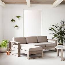 outdoor furniture west elm. Portside Outdoor 2-Piece Sectional - Weathered Gray Furniture West Elm T