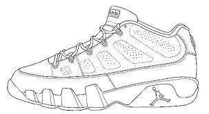 Free Printable Jordan Shoes Coloring Pages Sneakers Coloring Pages