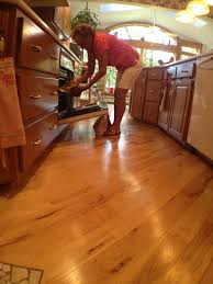 Solid Wood Floor In Kitchen Designing Your Floor To Make Your Kitchen Feel Bigger