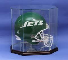 full size football helmet glass display case custom stand