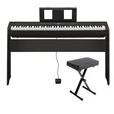 yamaha l85. yamaha p45b 88-key black digital piano includes pa150 power adapter and sustain l85
