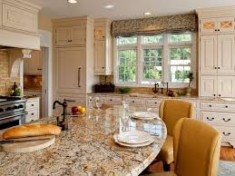 image of large kitchen window treatment ideas
