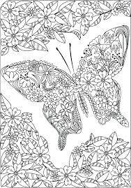 Printable Coloring Pages Of Flowers And Butterflies Coloring Pages Of Flowers And Butterflies Hoaquanhapkhau Info