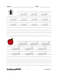 cursive word practice letters cursive practice letters and words edboost