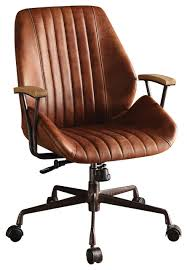 Brown leather office chair Mustang Hamilton Top Grain Leather Office Chair Coffee Industrial Office Chairs By Acme Furniture Houzz Hamilton Top Grain Leather Office Chair Coffee Industrial
