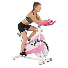 sunny health fitness p8150 belt drive premium indoor cycling bike pink