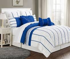 8 piece cal king villa blue white comforter set lovely black and gold bedding sets