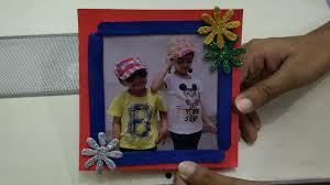 Photo Frame Making using Ice Cream Sticks  Easy Art \u0026 Craft Ideas ...