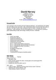 Machine Operator Resume Job Description Virtren Com