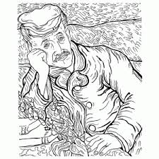 Print Een Vincent Van Gogh Kleurplaat Kleur Een Van Gogh