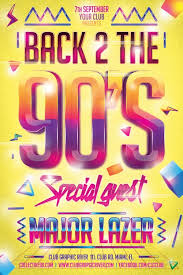 Back 2 The 90's Party Flyer Template - Download Psd Flyer For Photoshop