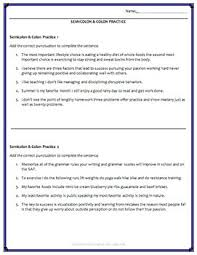 Semicolons And Colons Worksheets Semicolon Colon Usage Activities Worksheets Powerpoint Answer Key