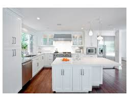 Carrera Countertops l shape white kitchen designs using solid red cherry wood kitchen 7621 by xevi.us