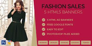 Fashion Banner Fashion Sales Ads Banner Html5 Gwd