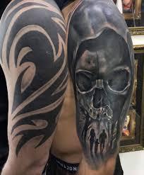 Skull Tribal Coverup Tattoo By Sebastian Limited Availability At