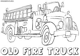 Printable Coloring Pages Of Fire Trucks Coloring Fire Truck