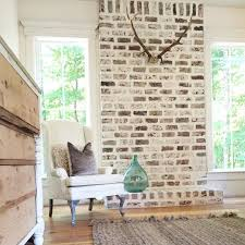 How To Whitewash Brick How To Whitewash Bricks Using Natural Paint That Lets The