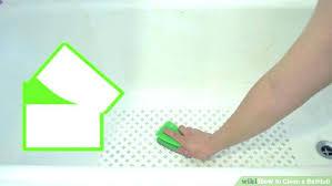 best way to clean plastic bathtub rust stains in bathtub 3 ways to clean a bathtub