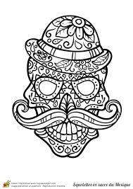 Coloriage Cr Nes En Sucre Du Mexique Sur Hugolescargot Com