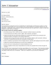 sample cover letter mortgage loan processor sample resume for loan processor