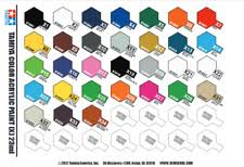 Tamiya Polycarbonate Paint Chart 1 6 Scale Model Kit Tools Supplies Engines For Sale Ebay