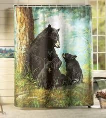 Shower Curtains Cabin Decor Similiar Black Bear Shower Curtain Hooks Keywords