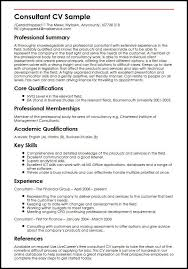 Consultant Cv Consultancy Cv Magdalene Project Org