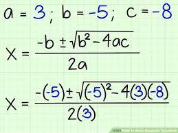 solutions to a quadratic equation math image titled solve quadratic equations step maths class 10 quadratic