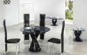 elmdon black circular dining table and 4 black chairs. full size of dining:lovely round black glass dining table only admirable elmdon circular and 4 chairs k