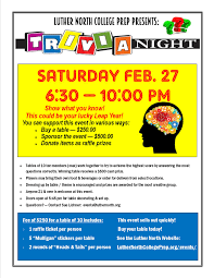 Trivia Night Flyer 2016 Luther North College Prep