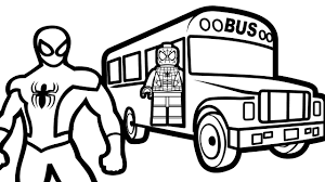 Small Picture Lego Spiderman on Bus Spiderman Coloring Pages For Kids Coloring