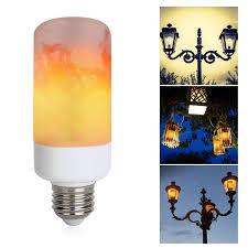 Websun Flickering Light Bulbs Led Flame Effect Light Bulb E26 Flickering Flame Light Bulbs 3 Modes Led Light Bulb Atmosphere Lighting Art Deco Vintage Simulation Flames