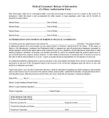 Child Medical Consent Form For Grandparents Medical Release Consent Form Template Medical Release Form For Child