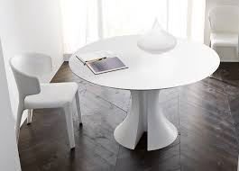 white round expandable dining table