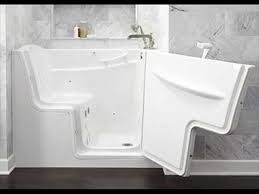 bathtub with door and seat for easy access