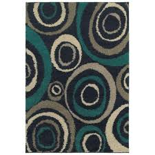 home decorators collection orbit teal 8 ft x 10 ft area rug