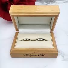 modern calligraphy personalised wedding ring box