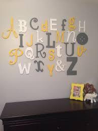 alphabet wall art letters