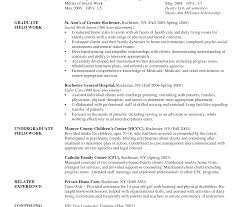 Examples Of Social Work Resume Objectives Cover Letters For Pics