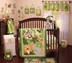 nojo jungle babies 9 piece nursery crib bedding set green yellow tan