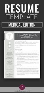 Resume Link Resume Template Medical Edition For MS Word Minimalist Resume 7
