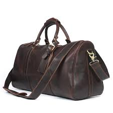 classic men s large handmade vintage genuine leather duffle bag travel bag luggage weekend bag