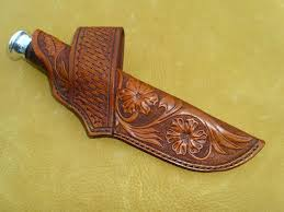 cross draw leather knife sheath