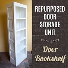 repurposed door bookshelf this is the first step of turning two old doors into a