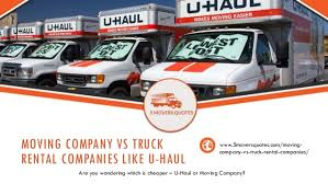 Uhaul Rental Quote Gorgeous Moving Company VS Truck Rental Companies Like Uhaul