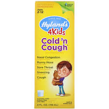 Hyland S 4kids Cold N Cough Nighttime Dosage Chart Hylands 4 Kids Cold N Cough Ages 2 12 4 Fl Oz 118 Ml